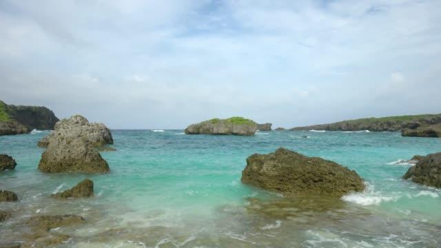 Nakanoshima beach in Shimojishima island, Okinawa, Japan video
