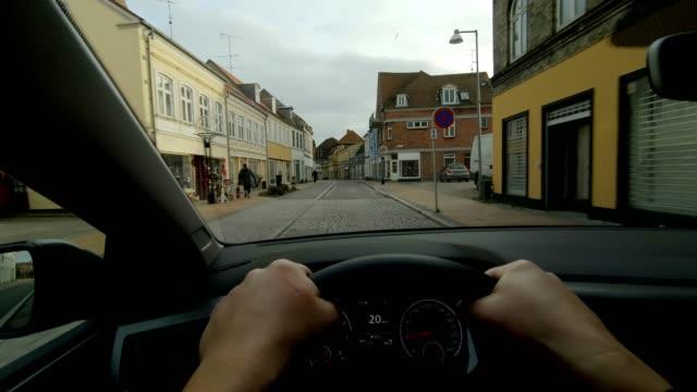 ナクスコフロランド人の車両の日運転ステアリングカーダッシュボード - 主観視点点の映像素材/bロール