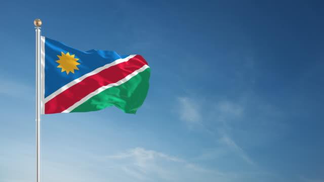 4 K Namibia Flagge-Endlos wiederholbar – Video