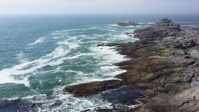 Namibia Luderitz Dias Cross Atlantic Ocean Coast Aerial Drone 4K Video