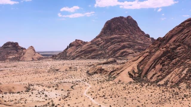 Namibia Spitzkoppe Mountain Peak Spitzkuppe Drone 4K Video Africa