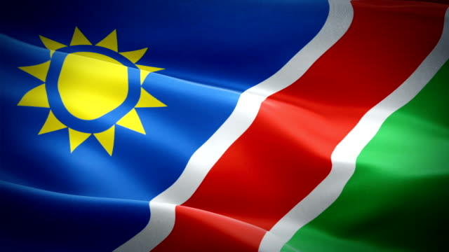 Namibian flag Closeup 1080p Full HD 1920X1080 footage video waving in wind. National ‎‎‎‎Seeis‎‎ 3d Namibian flag waving. Sign of Namibia seamless loop animation. Namibian flag HD resolution Background 1080p Namibian flag Closeup 1080p Full HD 1920X1080 footage video waving in wind. National ‎‎‎‎Seeis‎‎ 3d Namibian flag waving. Sign of Namibia seamless loop animation. Namibian flag HD resolution Background 1080p swakopmund stock videos & royalty-free footage