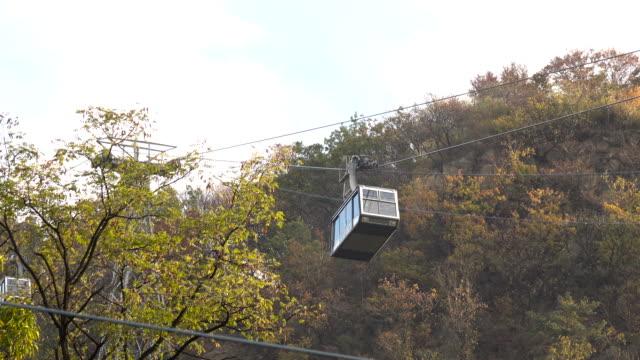 vídeos y material grabado en eventos de stock de namsan tranvía en n seoul tower - n seoul tower