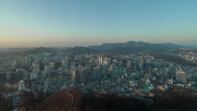 Namsan tower day to night time-lapse 4k video