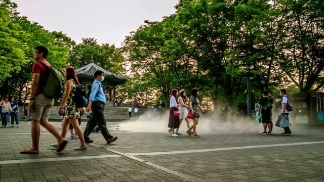 vídeos y material grabado en eventos de stock de parque de la torre de namsan - n seoul tower