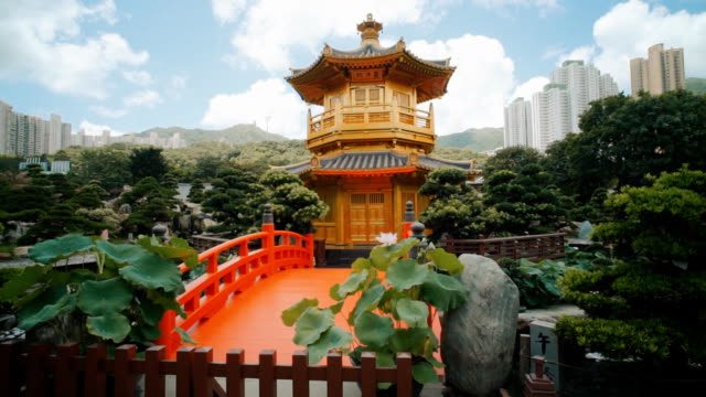 nan lian garden ,hong kong - tempio video stock e b–roll