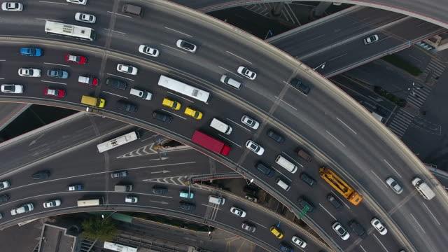 Nanpu bridge aerial highway junction video