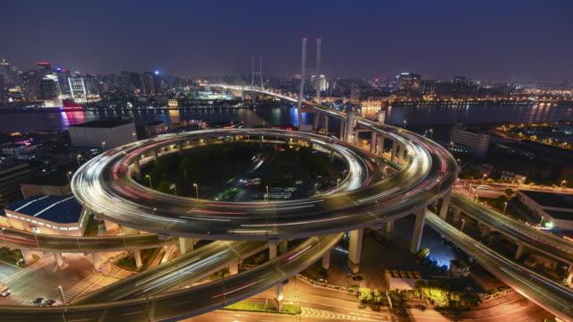 南浦大橋,上海時間流逝 - 大 個影片檔及 b 捲影像