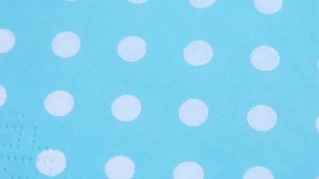 Napkin with polka dots