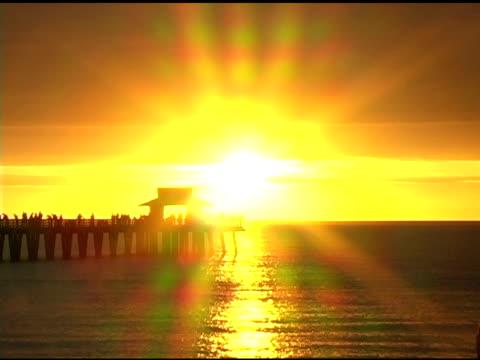 Naples Pier Sunset Timelapse (Post Method) 2 NTSC video