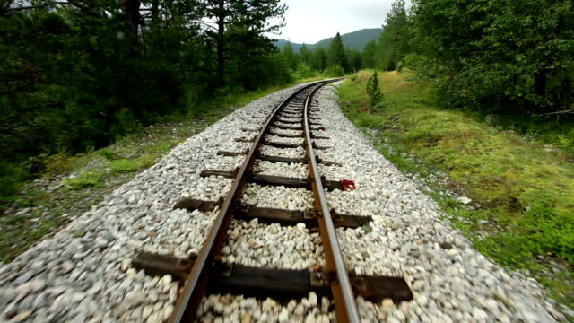 Narrow gauge railway tracks video