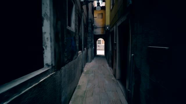 Narrow street in old city video