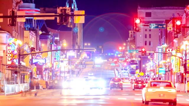 vídeos de stock, filmes e b-roll de horizonte de nashville - centro da cidade
