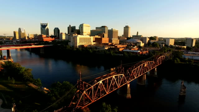 Nashville Tennessee Downtown City Skyline Architecture Cumberland River video