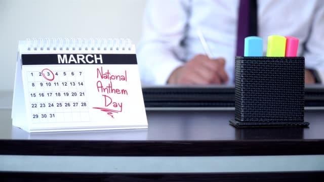 nationalsången dag - special - calendar workout bildbanksvideor och videomaterial från bakom kulisserna