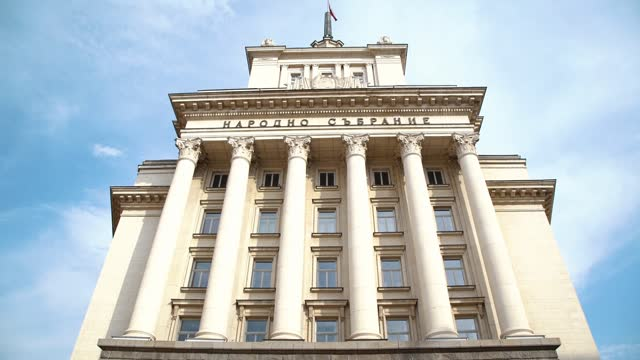 nationalförsamlingsbyggnad sofia bulgarien - bulgarien bildbanksvideor och videomaterial från bakom kulisserna