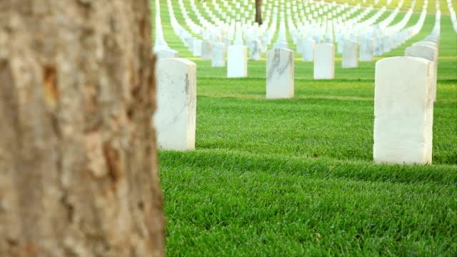 нам национальное кладбище - memorial day стоковые видео и кадры b-roll