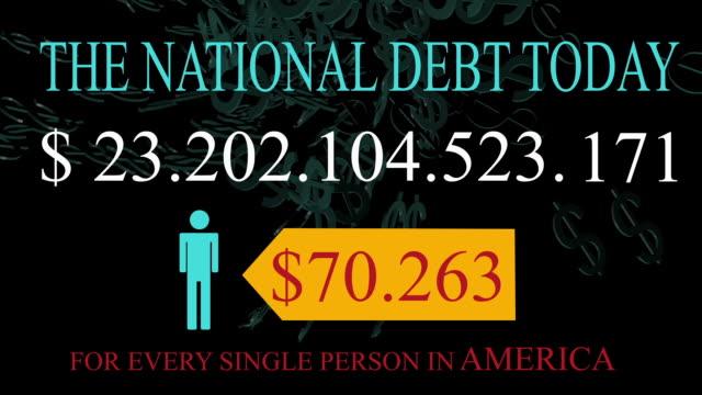 National Debt Live Clock Counter for USA