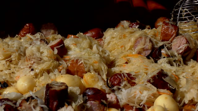 National dish of Poland bigos stew video