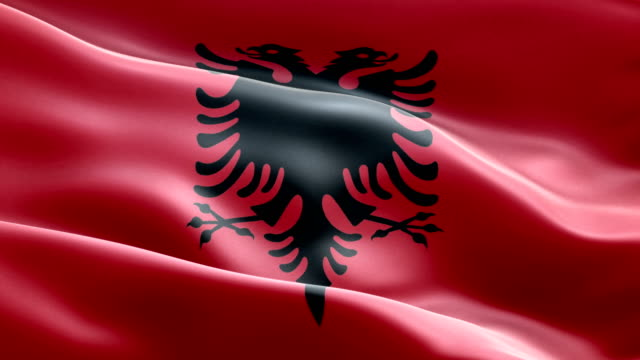 National flag Albania wave Pattern loopable Elements video