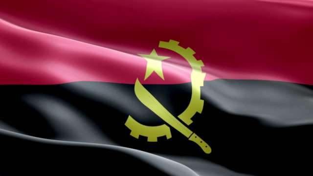 National flag angolan wave Pattern loopable Elements video