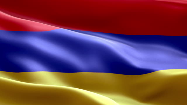 National flag Armenian wave Pattern loopable Elements video