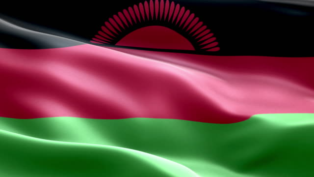 National flag malawi wave Pattern loopable Elements video