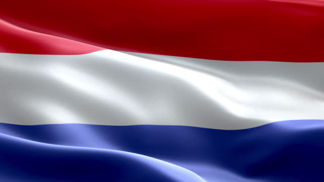 National flag Netherlands wave Pattern loopable Elements video