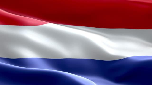 stockvideo's en b-roll-footage met nationale vlag nederland golf patroon loopbare elementen - netherlands