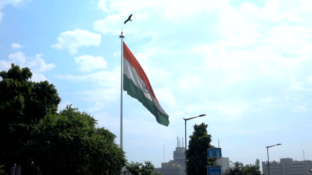 National flag of India, Slow motion shot video