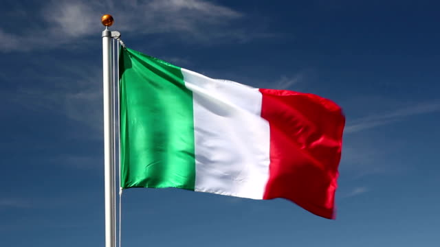 National flag of Italy video