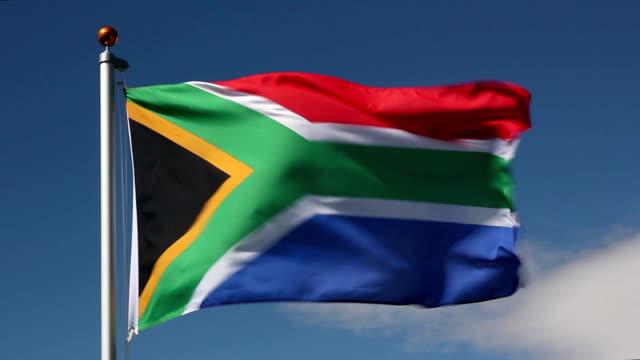 南アフリカ国旗 - 南アフリカ共和国点の映像素材/bロール