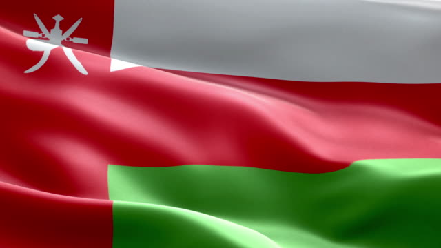 National flag Oman wave Pattern loopable Elements video