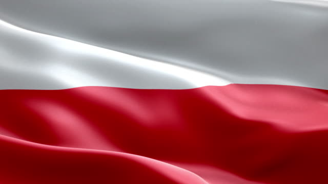 National flag poland wave Pattern loopable Elements video
