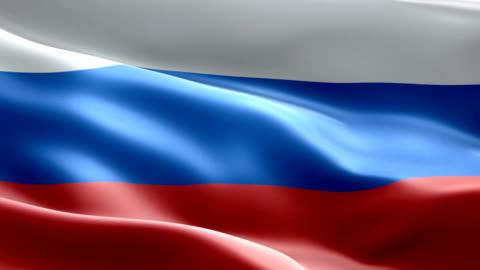 vídeos y material grabado en eventos de stock de bandera nacional rusia onda patrón elementos loopable - rusia