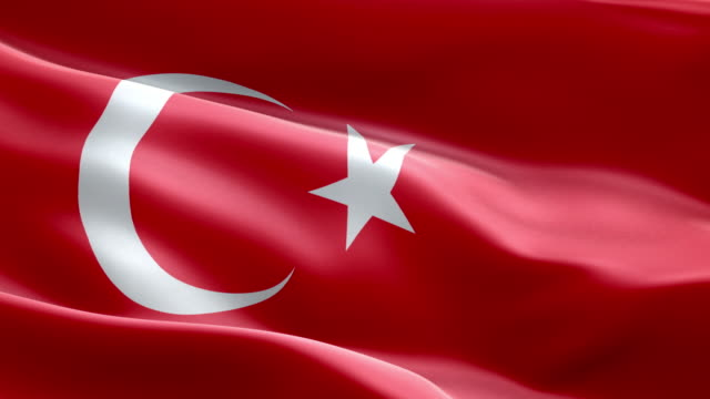 National flag Turkey wave Pattern loopable Elements video