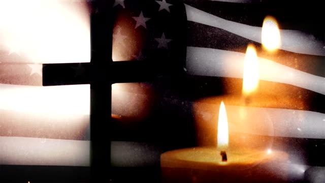 medborgare begravning-tre stearinljus - minnesmärke bildbanksvideor och videomaterial från bakom kulisserna