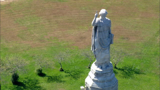 National Monument To the Forefathers  - Aerial View - Massachusetts,  Plymouth County,  United States video
