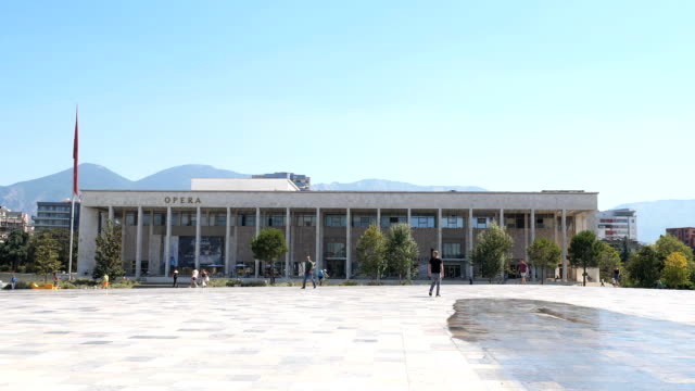 National Opera And Ballet Theatre in Tirana,Albania,August 2019