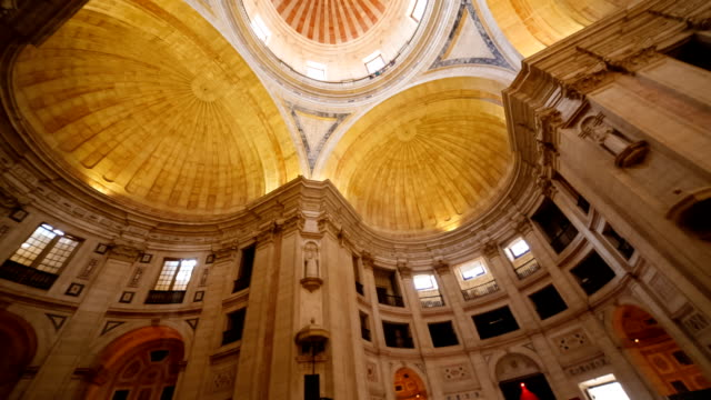 national pantheon, lisbon, portugal - lisbona video stock e b–roll