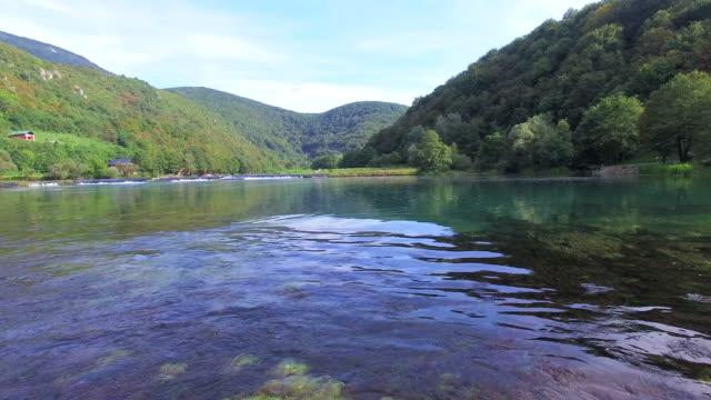 national park of una river in bosnia - adrenalina video stock e b–roll