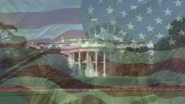 stockvideo's en b-roll-footage met national symbols of the usa - white house