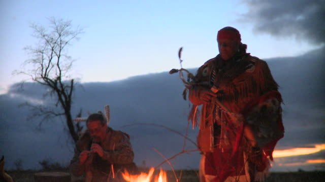 Native American Chief and Woodwind Player video