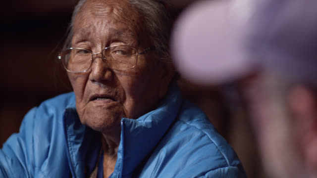 A Native American Woman (Navajo) in Her Eighties Nods Her Head While Talking to Someone A Native American Woman (Navajo) in Her Eighties Nods Her Head While Talking to Someone minority groups stock videos & royalty-free footage