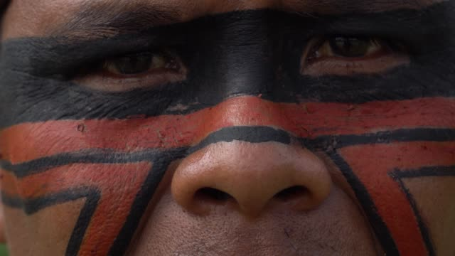 Native Brazilian Indigenous Man Native Brazilian Indigenous Man minority groups stock videos & royalty-free footage