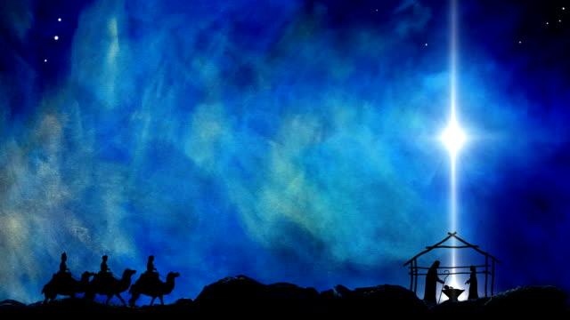 vidéos et rushes de nativité de jésus étoile de bethléem - naissance
