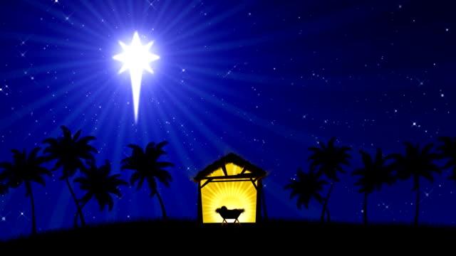 Nativity (Animated Background) video
