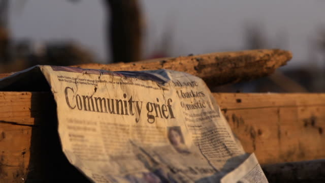 Natural disaster - Newspaper front page video