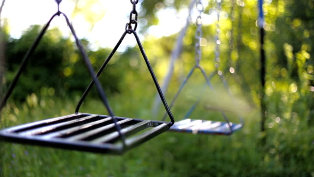 Natural increment Empty swings swinging stock videos & royalty-free footage