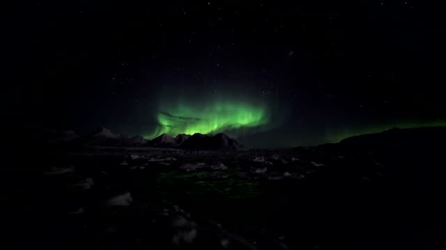 Natural phenomenon of Northern Lights video